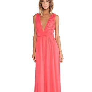 Revolve Lovers + Friends Helena Maxi Dress Coral